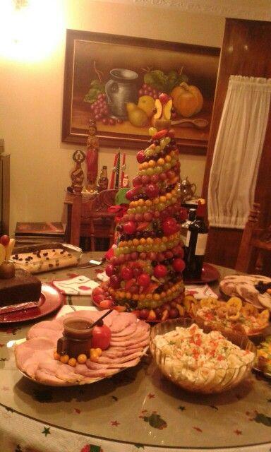 Arbol de navidad en frutas #three #chrismas