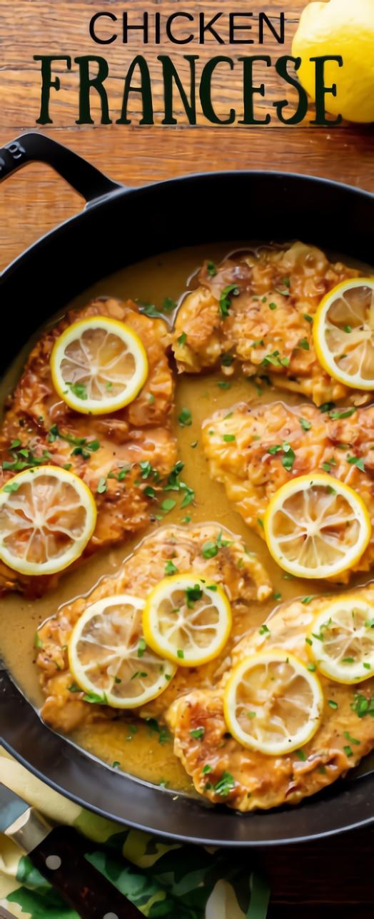 Chicken Francese Recipe #Dinnerrecipe #Chicken images