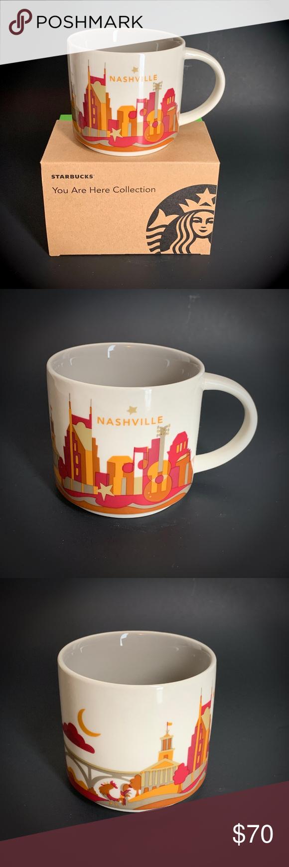 Starbucks You Are Here NASHVILLE Skyline Mug NEW NWT