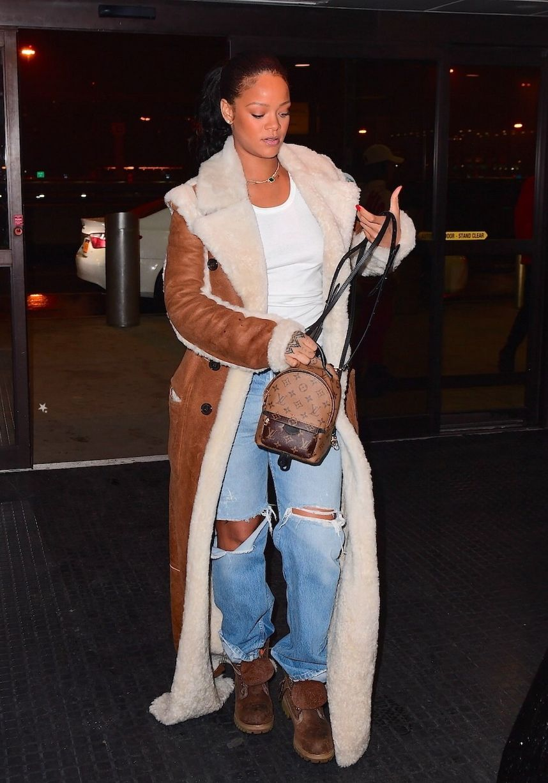 Rihenna Lately Rihanna at JFK Airport in NYC (Jan.