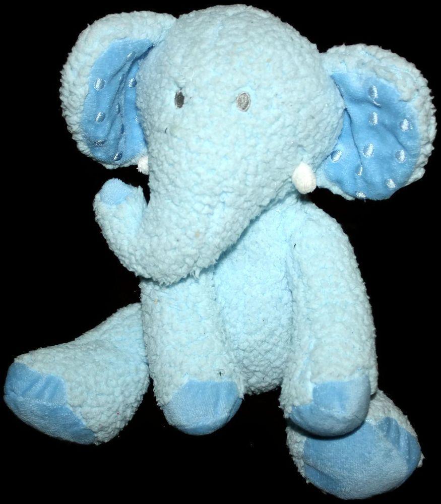 Li L Lil Dewberry Blue Elephant Hallmark Plush Baby Lovey Sherpa Soft Toy Hallmark Baby Plush Baby Lovey Animals For Kids