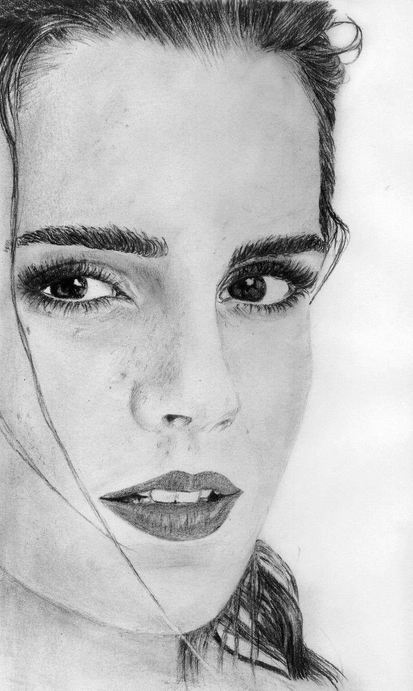 Emma watson pencil drawing emma watson portrait emma eatson