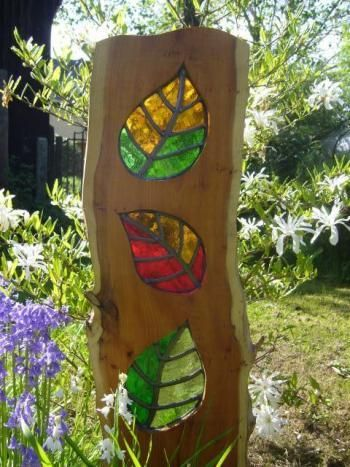Delicieux Yew Tree Glass Garden Art | Garden Stained Glass|