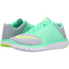 pretty nice 366a0 5bf0b Nike FS Lite Run 3 Wolf Grey Green Glow White Ghost Green - Zappos.com Free  Shipping BOTH Ways