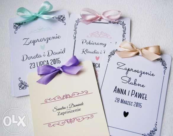 Zaproszenia Na ślub Winietki Zawieszki Na Alkohol Projekty Do