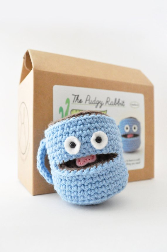Amigurumi Coffee Mug Kit Crochet Kit Diy Craft Kit Products