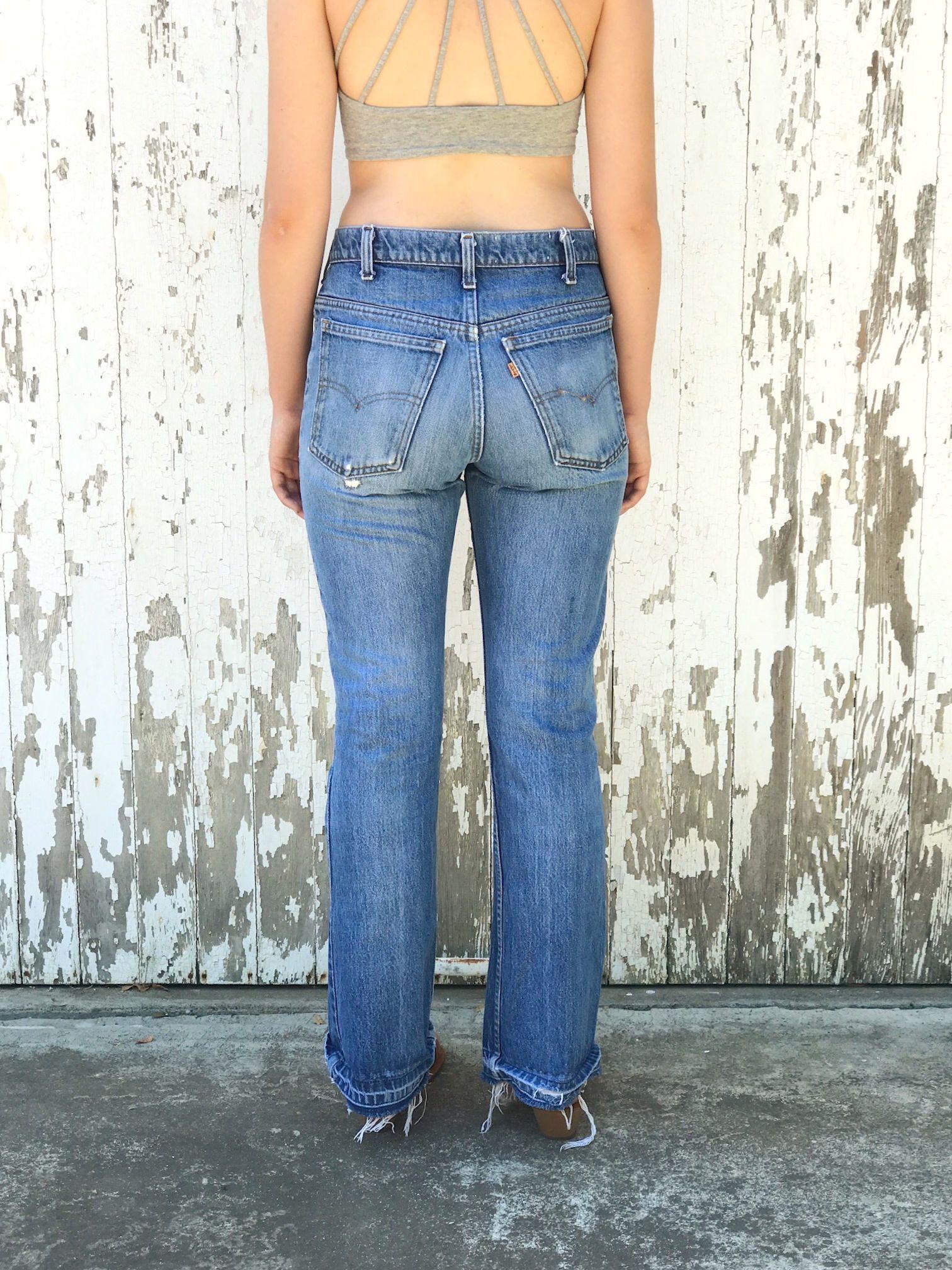 13c1285cd49 Bell Bottom Jeans · LEVIS 646 Jeans 30 Waist Flares Orange Tab Vintage 70s  by HuntedFinds on Etsy https: