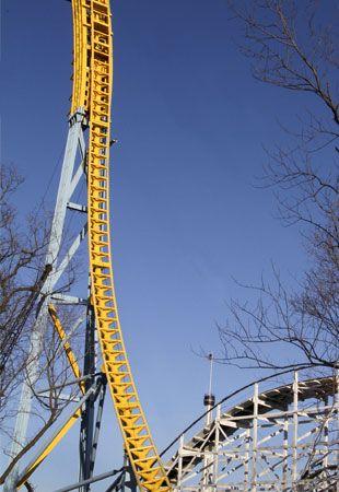 Skyrush Roller Coaster Under Construction Hersheypark Hershey