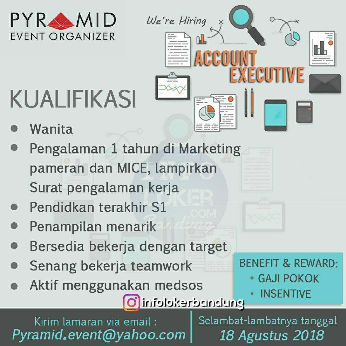 Lowongan Kerja Pyramid Event Organizer Bandung Agustus 2018