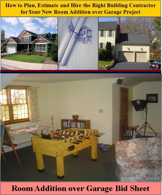 Here is a Room Addition over Garage Bid Sheet for helping homeowners ...