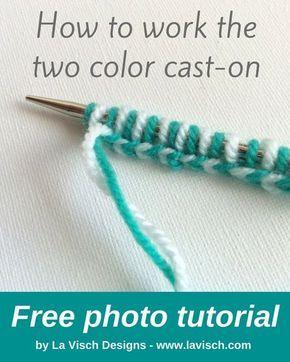Photo of tutorial: a two-color cast-on – La Visch Designs
