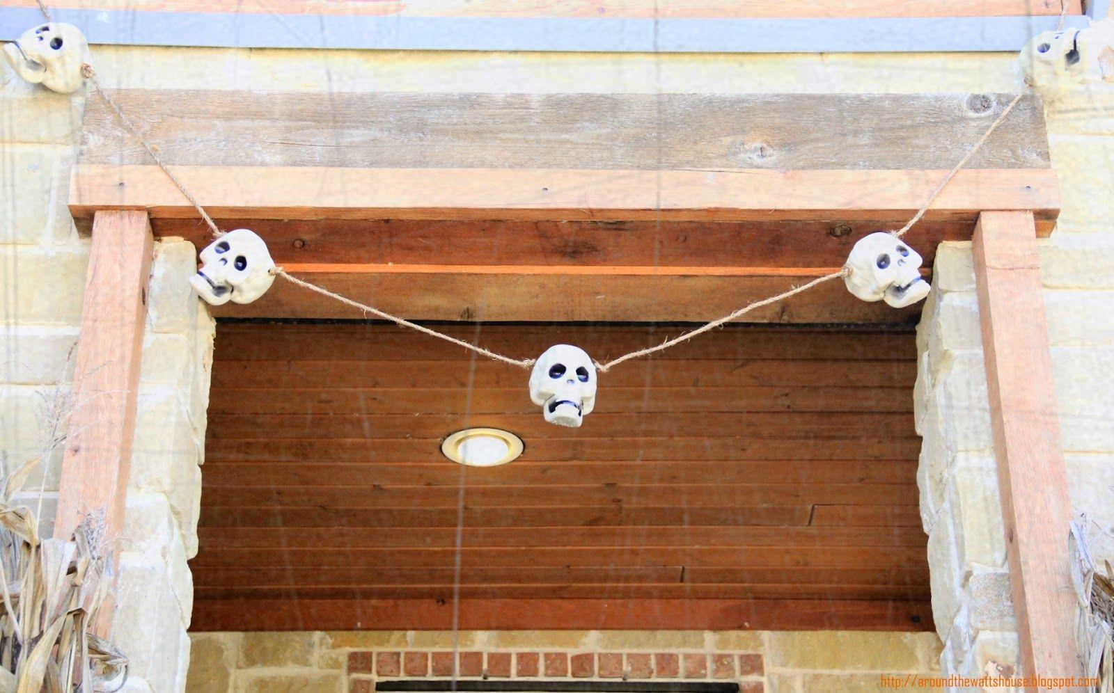 Around the Watts House: DIY Outdoor Skull Garland