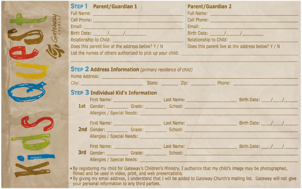 New Family Registration Form Childrens Ministry Online Childrens Ministry Children S Ministry Church Safety