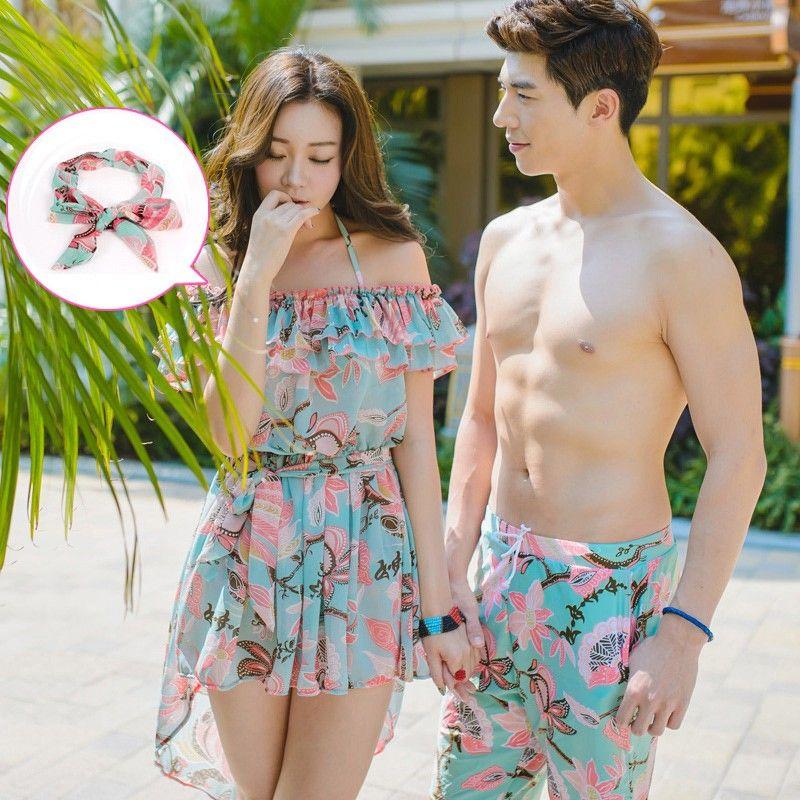 5bd47154a8 $70.00 [Pre-Order] Couple Beachwear | Malaysia | Bikinis, Mens suits ...