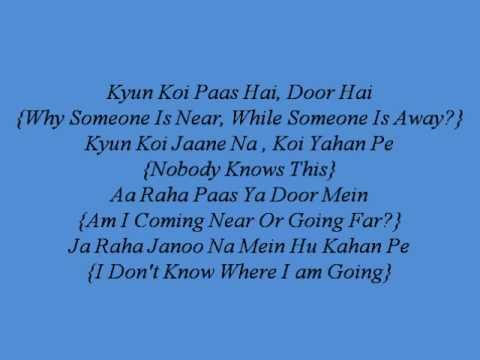 Yeh Dooriyan Lyrics With English Translations Love Aaj Kal With