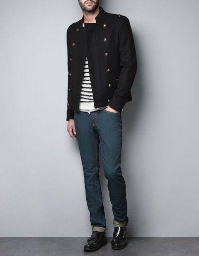 Jacket With Gold Buttons Zara Dapper Me Mens Fashion Men