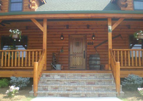 Best Inside Pictures Of Log Cabins Log Railing Wood Stair 640 x 480