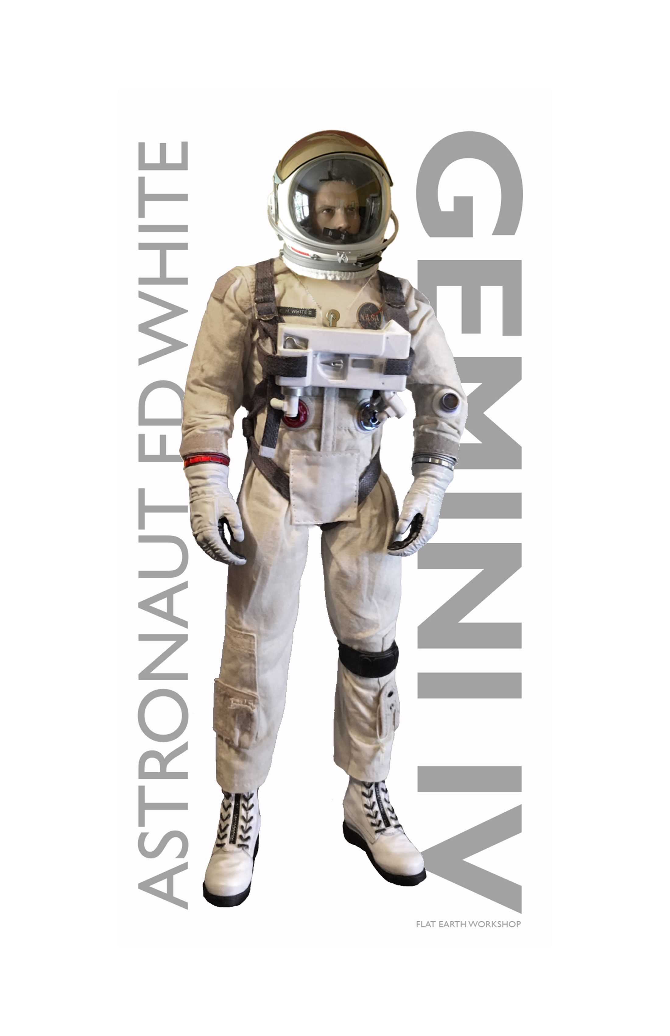 ed white 1 6 figure from gemini iv eva mission created by flat earth workshop now in the collection of adam savage myth busters tested  [ 2200 x 3400 Pixel ]