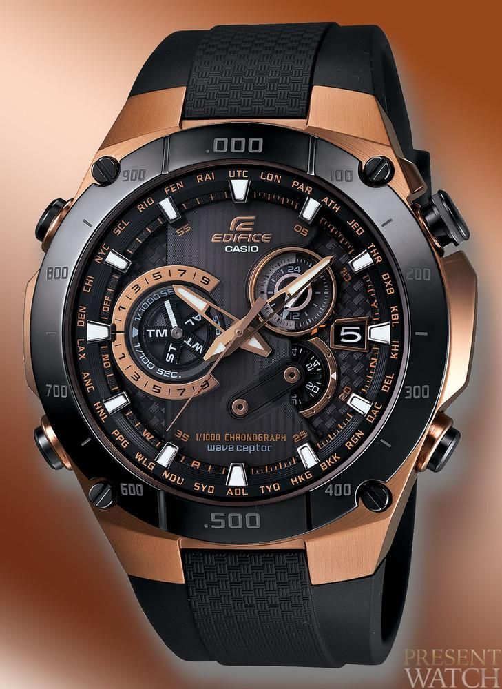 CASIO - Edifice Black   Rose Gold  5f36bacca0c