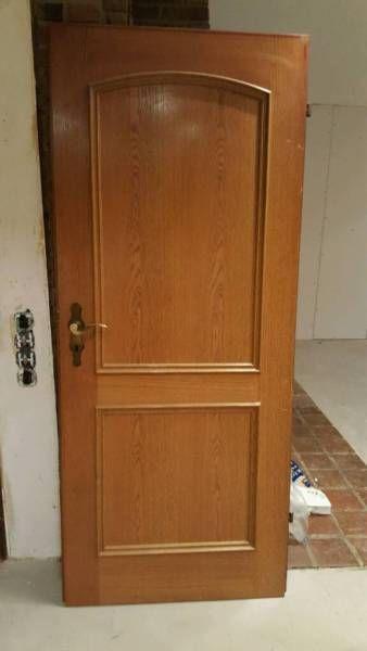 Zimmertür holz  Ich verkaufe 10 Türblätter aus dunklem Holz inklusive Türgriff ...