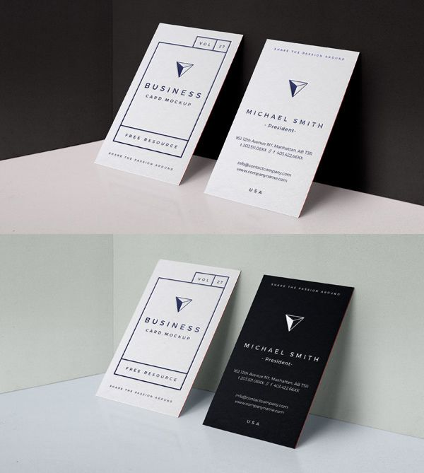 Free Psd Business Card Mock Up