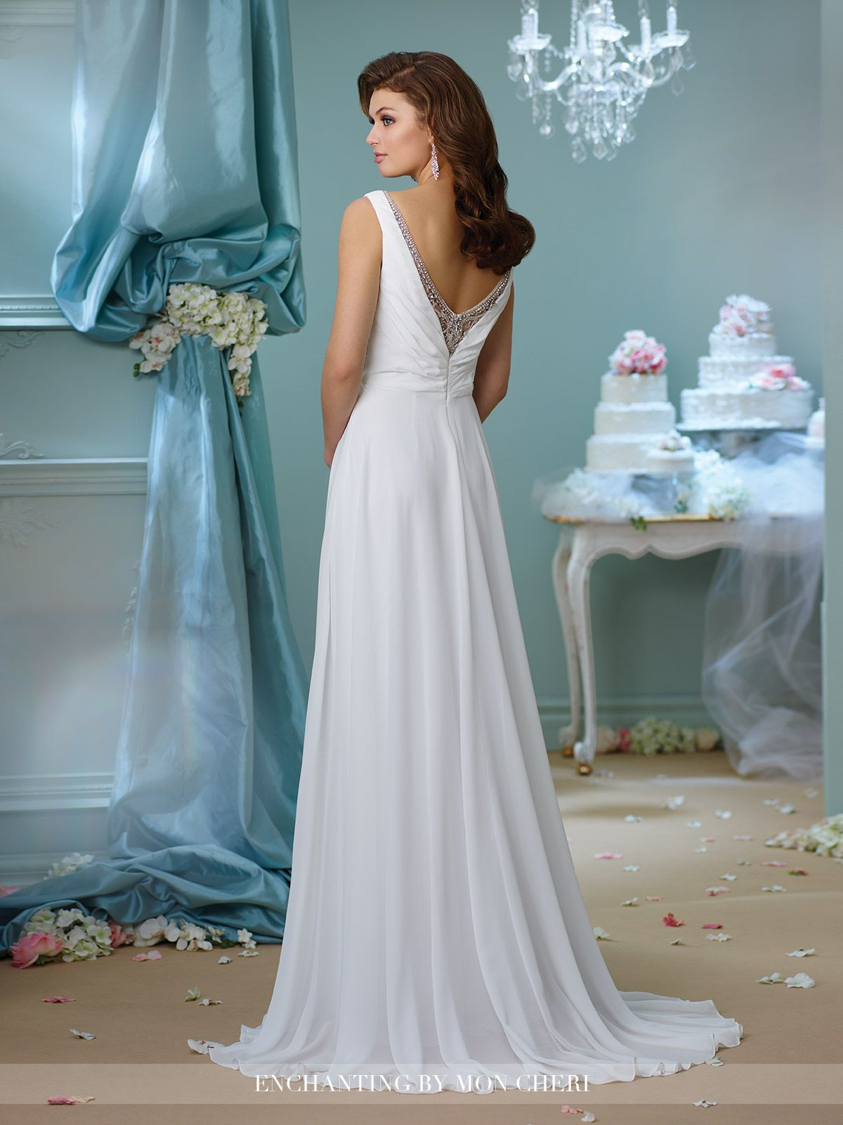 Illusion V-Neckline Wedding Dress- 216166- Enchanting by Mon Cheri ...