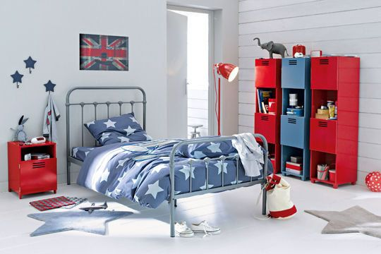 Chambre ado, style industriel moderne & coloré | boys rooms ...