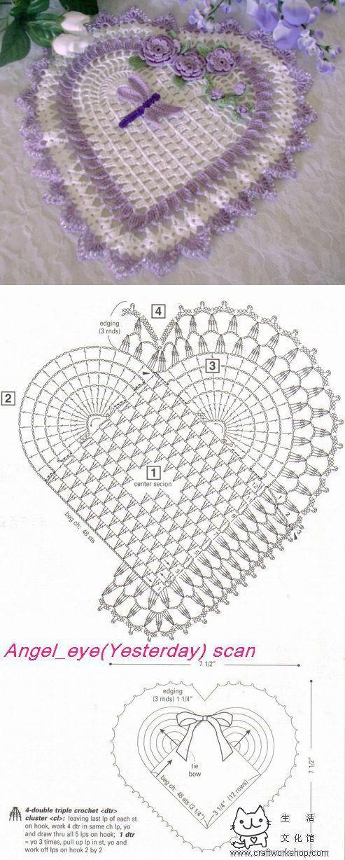 La servilleta el corazoncito por el gancho | Laboratory household ...