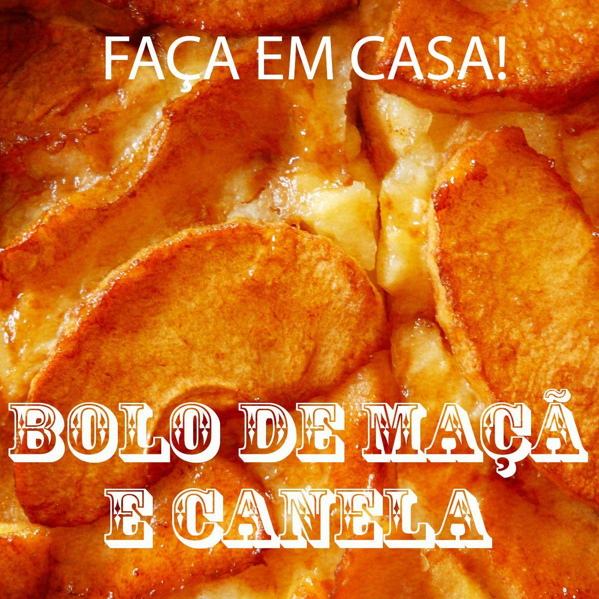 Um duo classico..maçã e canela! Receita super delicia de Bolo de Maçã com Canela!