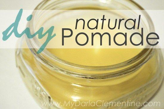 Diy Natural Pomade Hair Wax Free Printable My Darla Clementine Recipe Hair Pomade Diy Natural Products Hair Wax