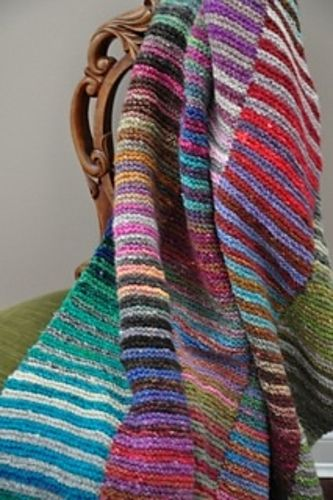 Photo of Simple Noro Afghan pattern by Art of Yarn
