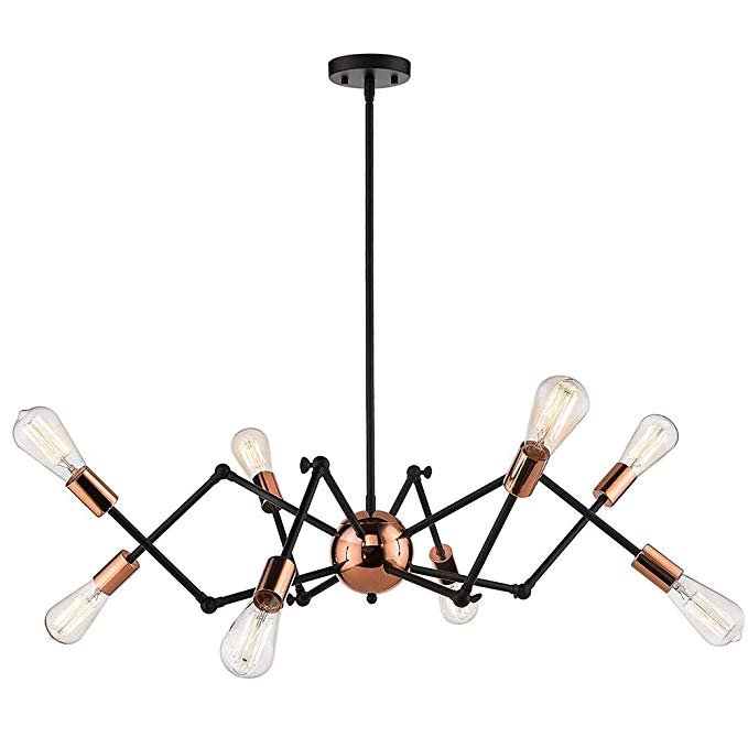 Senna House Sh 63200 Industrial Chandeliers Wrought Iron Chandeliers Black Chandeliers Spide Wrought Iron Chandeliers Industrial Chandelier Black Chandelier