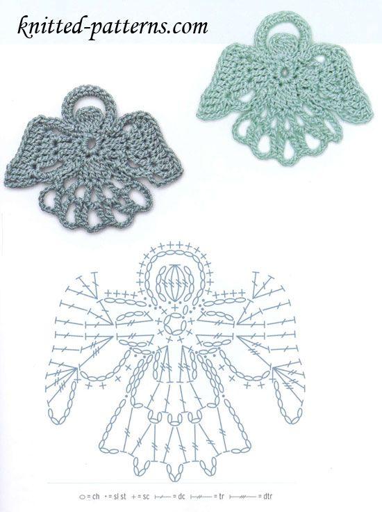 angel crochet motif pattern | crochet Christmas & winter | Pinterest ...