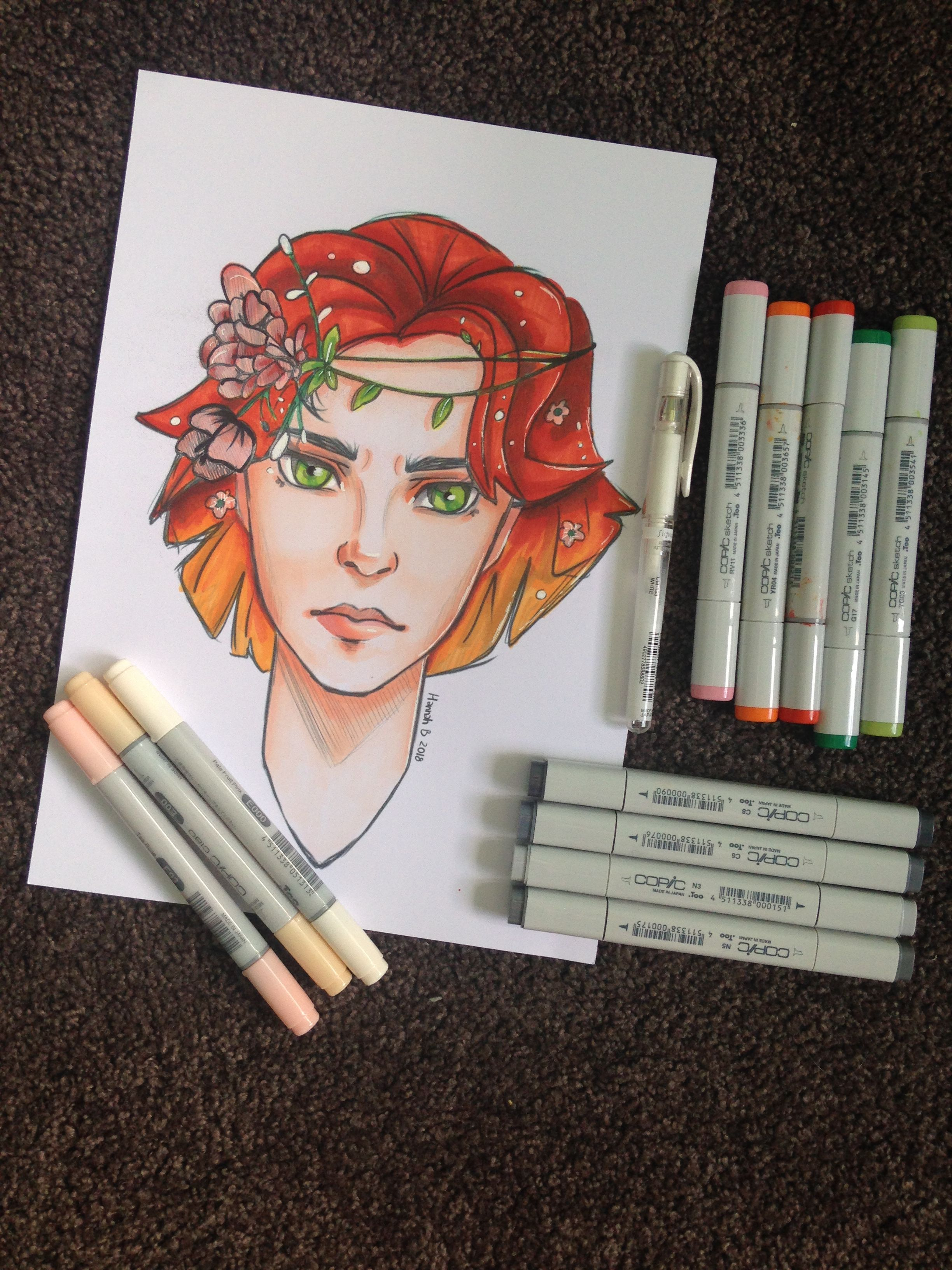 I Coloured It In With Copic Markers And It S My First Time Using