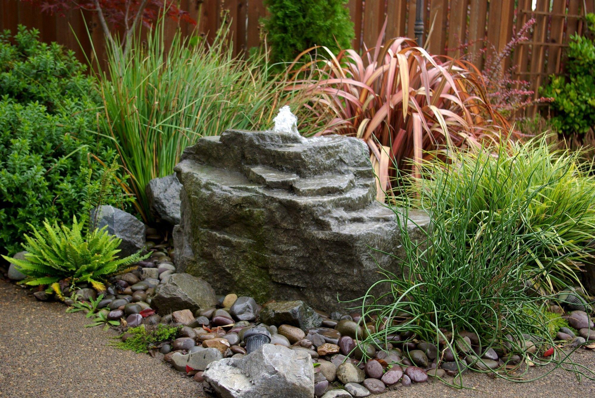 Rock Mountain Spring Ponldess Fountain Kit Landscaping With Rocks Fountains Backyard Garden Fountains