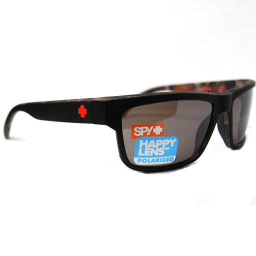 Spy Happy Lens Frazier Decoy Sunglasses (Matte Black/Bronze Mirror Polarized Lens) $129.95