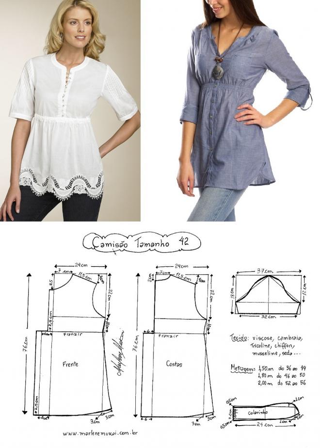 zhurnal.rykodelniza.ru | costura | Pinterest | Costura, Blusas y ...
