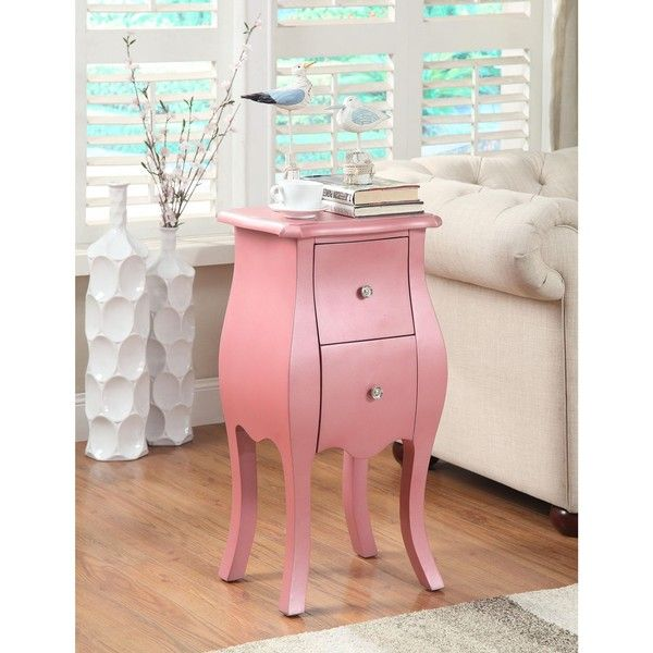 Mia Pink Side Table ($170) ❤ Liked On Polyvore Featuring Home, Furniture,