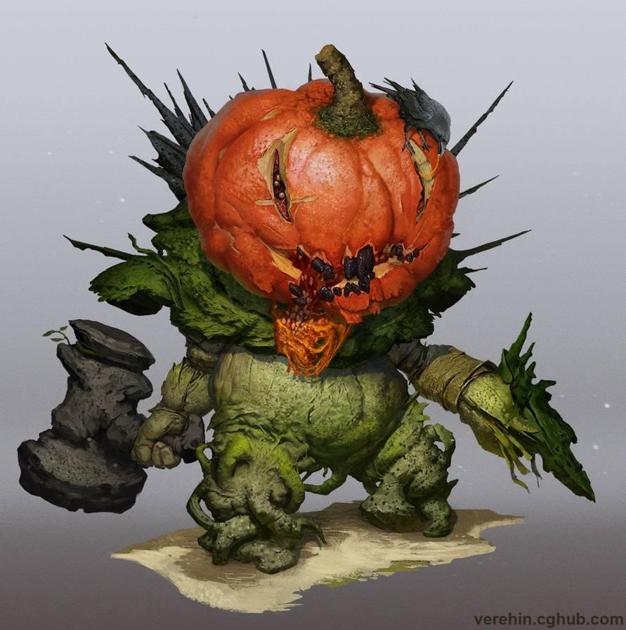 Pumpkin by Verehin on DeviantArt Fantasy monster, Art