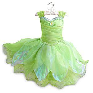 Disney Store Tinkerbell Fairy Princess Dress Costume Lights Up Halloween RETIRED