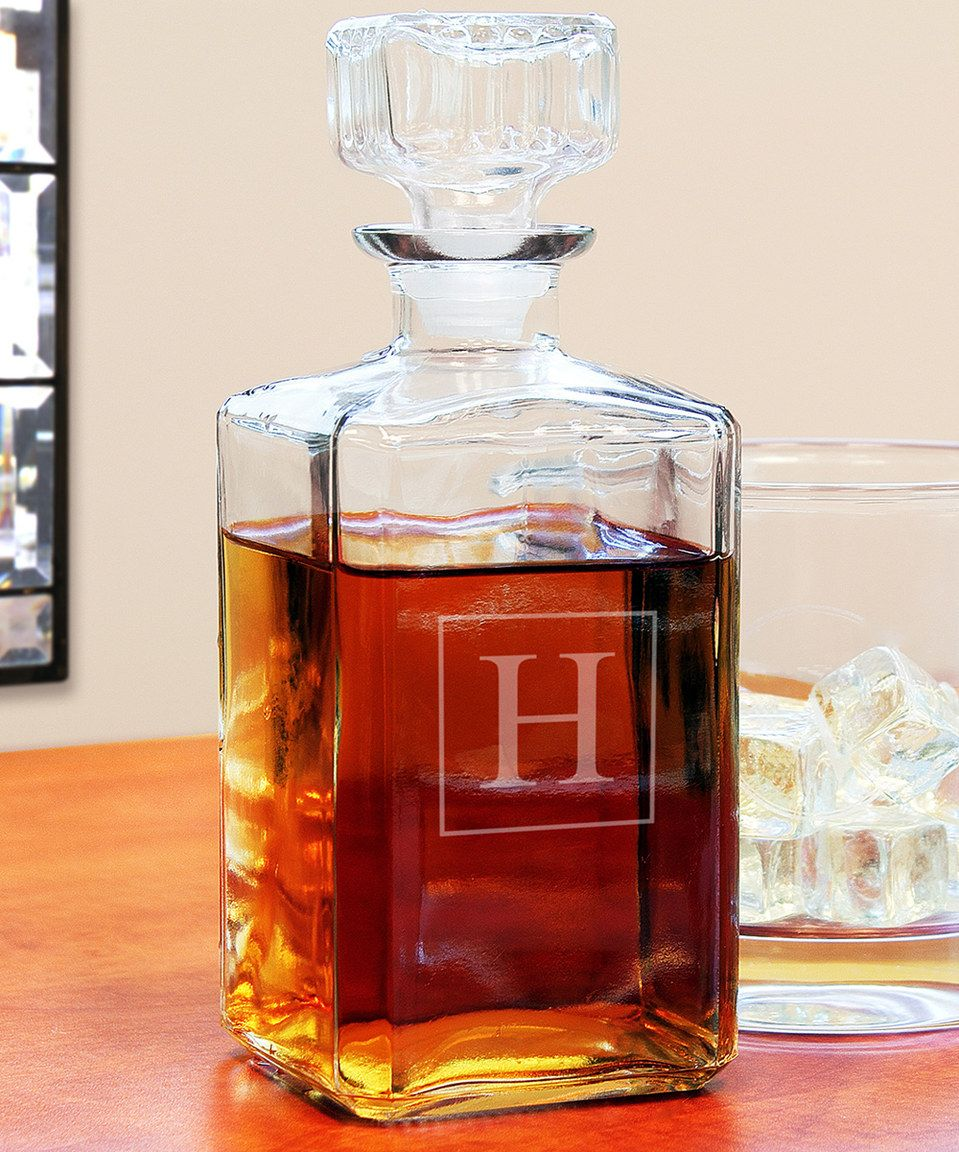 Another great find on #zulily! Initial Glass Decanter by  #zulilyfinds
