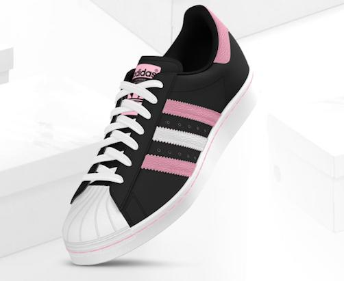 adidas iniki zwart roze
