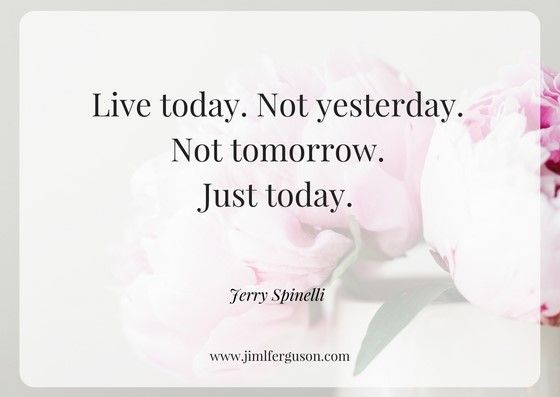 Live today, not yesterday - download your free daily planner from - free daily planner download