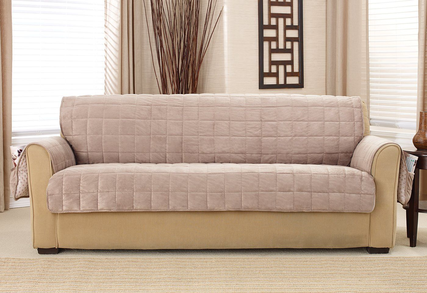 Deep Pile Velvet Sofa Furniture Cover 100 Polyester Pet Furniture Cover Machine Washable Furniture Sofa Furniture Couch Covers For Sale