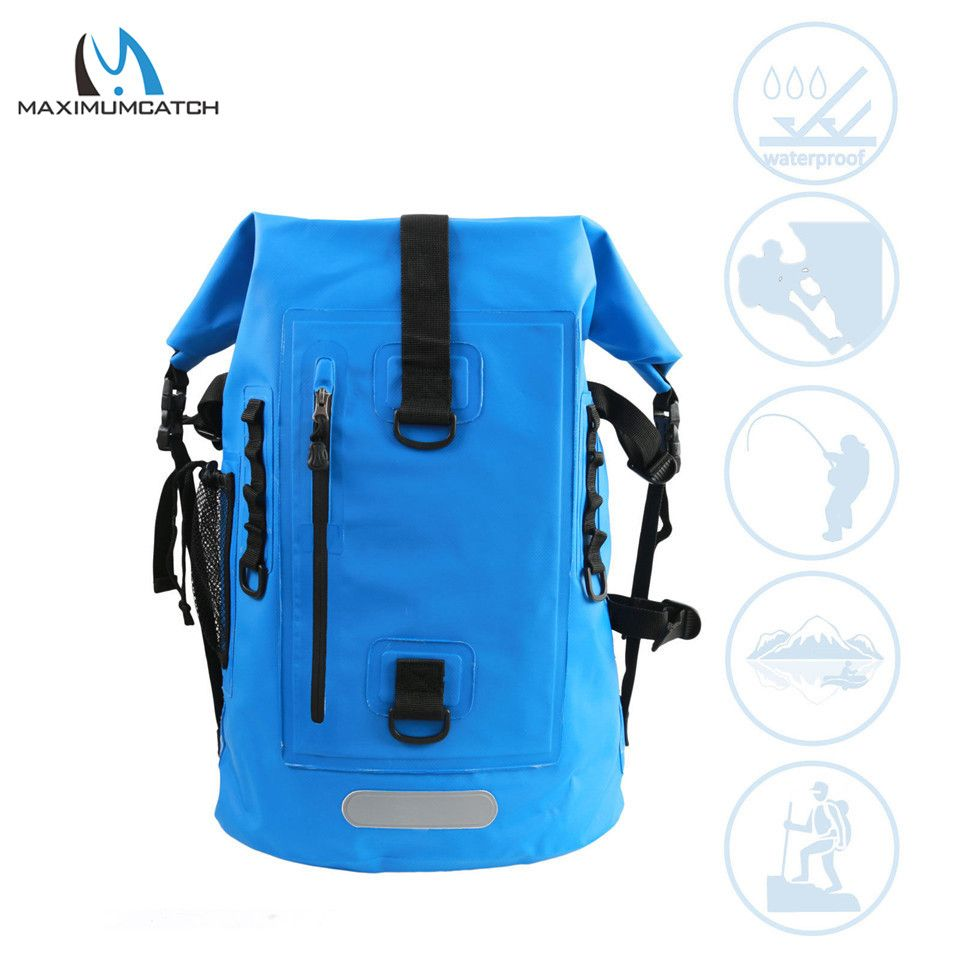 Maximumcatch High Quality Dry Backpack Waterproof Fishing Bag Ultra Durable 500d Pvc Watershed Fly Fishing Bag Wit Adjustable Bag Fly Fishing Bag Fish In A Bag