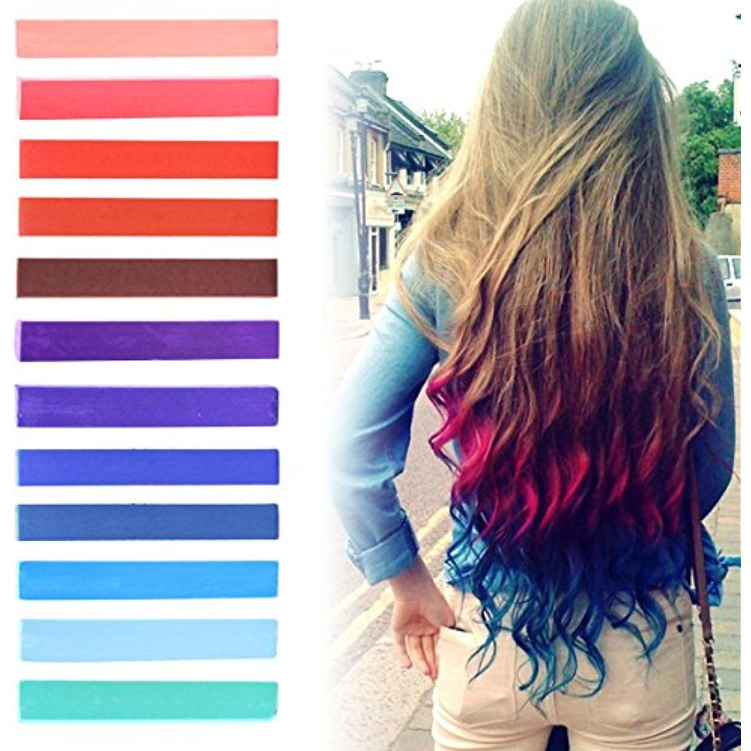 Best diy red to blue ombre hair dye set of usa inspired hair