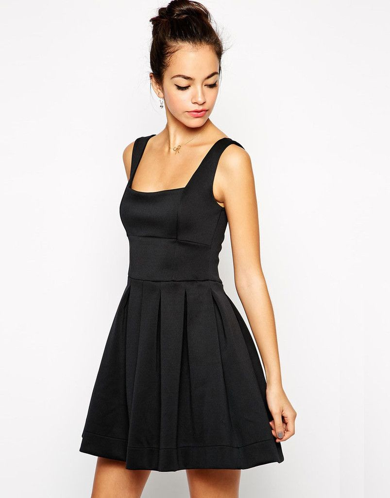 Amelia debutante scuba skater dress at vivacious lil black
