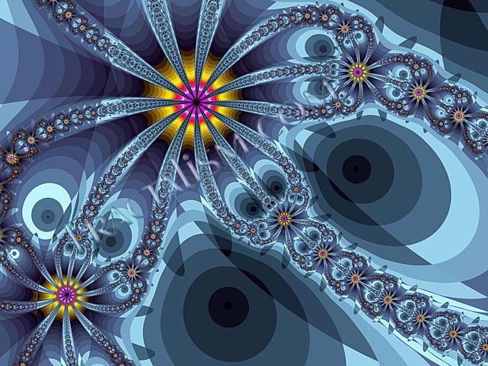 fractal fireworks | Found on fractalism.com