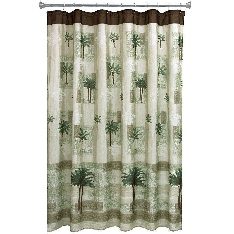 Bacova Citrus Palm Shower Curtain Tropical Bathroom Curtains