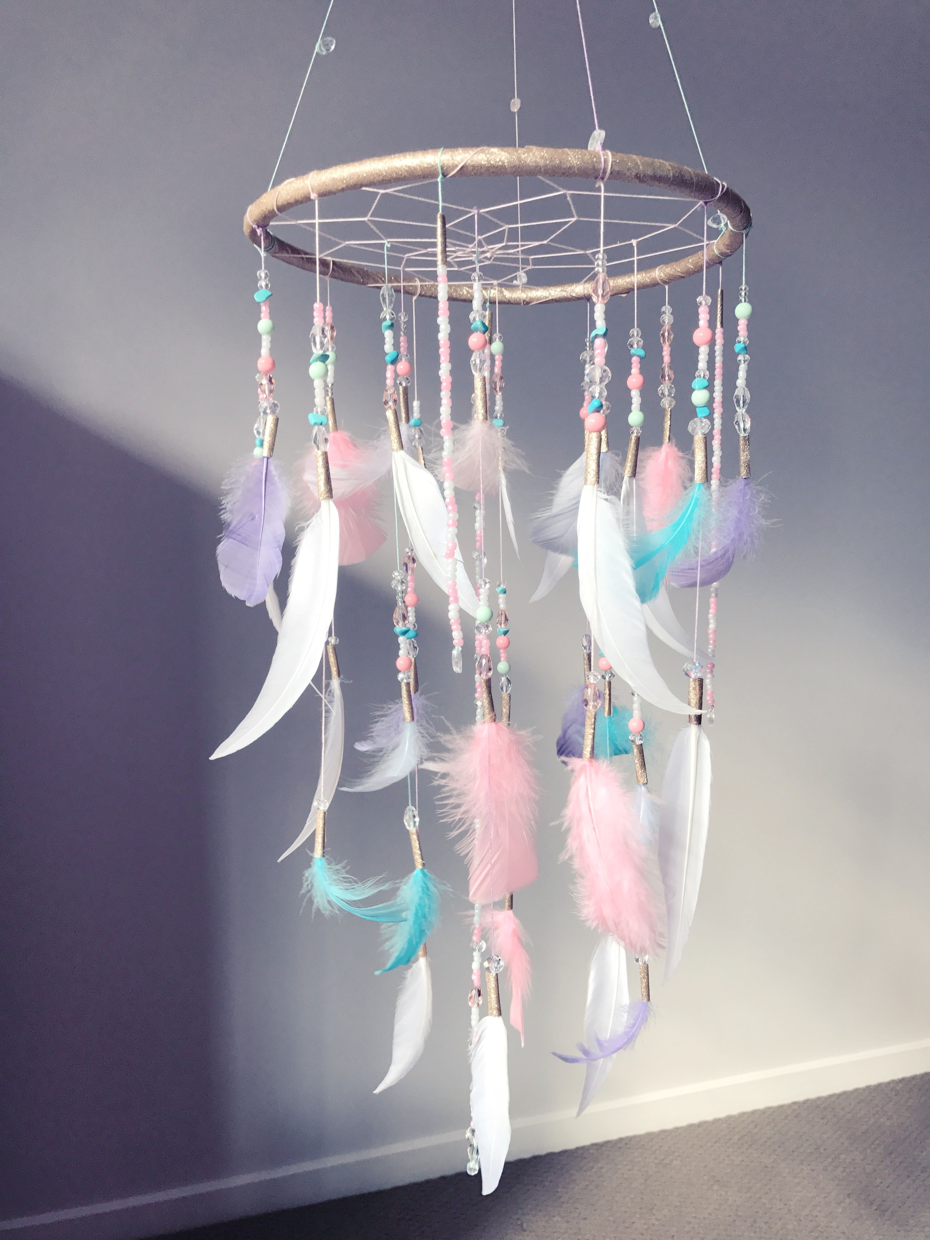 Made this dream catcher for my baby girls room 3 Super proud of my